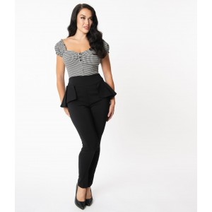 Unique Vintage Peplum Grable Pants