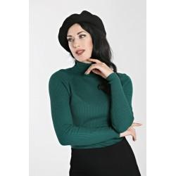 Hell Bunny Spiros Sweater Dark Green