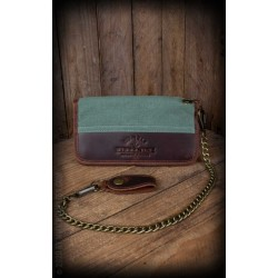 Rumble59 Canvas Leather Wallet Olive