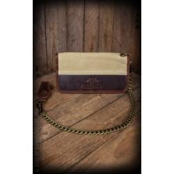 Rumble59 Canvas Leather Wallet Beige