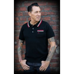 Rumble59 Knitted Polo Shirt Redmond Black