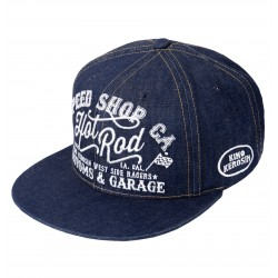 King Kerosin Trucker Cap Hot Rod Denim