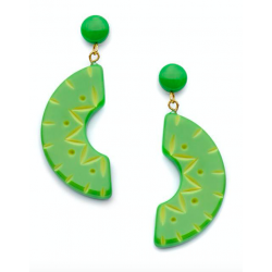 Lime Carved Drop Earrings