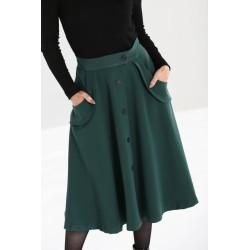 Hell Bunny Carlie Skirt Dark Green