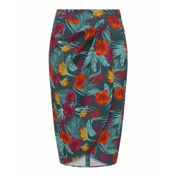 Collectif Kala Tropico Pencil Skirt