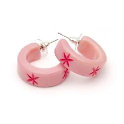 Ripple Carved Hoop Earrings