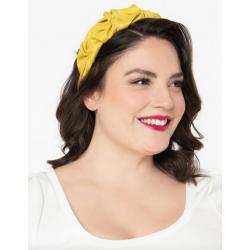 Unique Vintage Chartreuse Gathered Headband