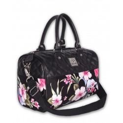 Liquor Brand Luau Hibiscus Black Bag