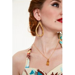 Voodoo Vixen Franny Tear Bamboo Earrings