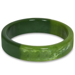 Voodoo Vixen Slim Green Stacking Bangle