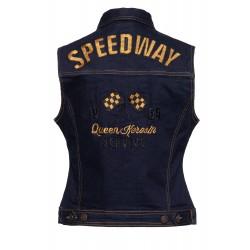 Queen Kerosin Denim Weste Speedway