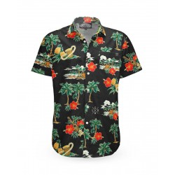 Liquor Brand Aloha Island Shirt Black