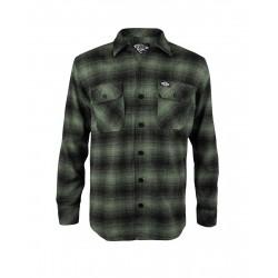 Liquor Brand Flannel Shirt Green