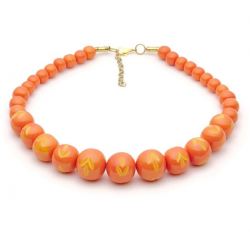 Freesia Carved Bead Necklace