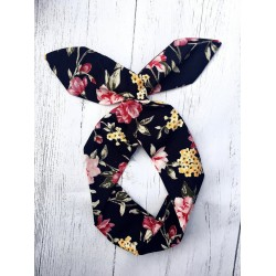 Floral Bow Wire Headband Rockabilly