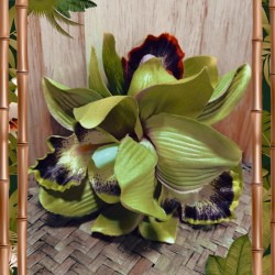Collectif Aaliyah Orchid Hair Flower Lime