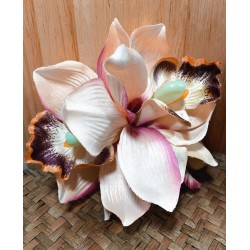 Collectif Aaliyah Orchid Hair Flower Cream