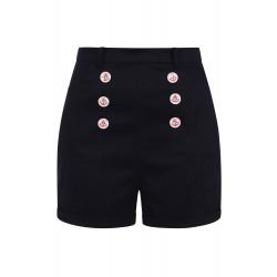 Collectif Nancy Nautical Shorts Navy