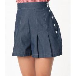 Unique Vintage Chambray Joyce Shorts