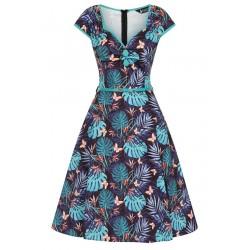 Lady Vintage Tropical Leaves Dress