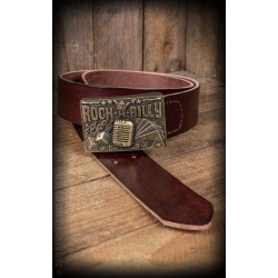 Rumble59 Leather Belt Rockabilly
