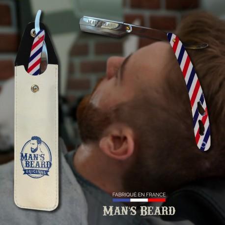 Man's Beard Shavette Barber Pole