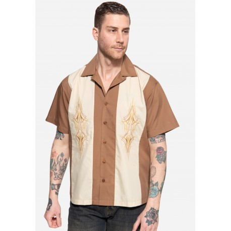 King Kerosin Workwear Shirt Pinstripes