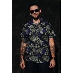 King Kerosin Hawaii Shirt Dark Palms