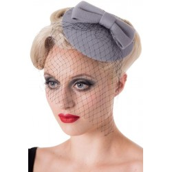 Banned Retro 50s Candice Hat Grey