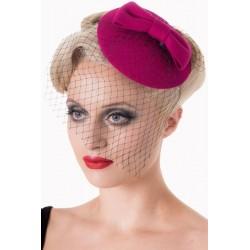 Banned Retro 50s Candice Hat Magenta