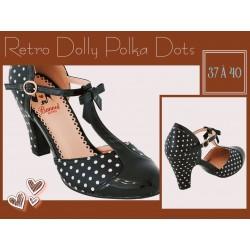 Banned Pinup Retro Dolly Polka Dots Black