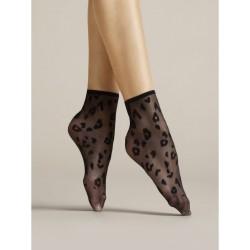Dolly Leopard Socks Black