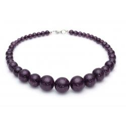 Gunmetal Glitter Beads Necklace