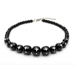 Hater Carved Bead Necklace