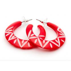 Lover Carved Hoop Earrings