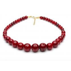 Mulberry Fakelite Bead Necklace