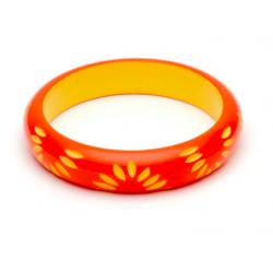 Midi Sunset Carved Bangle