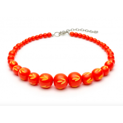 Sunset Carved Bead Necklace