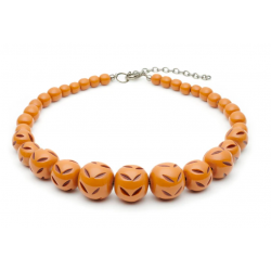 Almond Carved Bead Necklace
