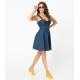 Unique Vintage Denim Blue Vaughn Dress