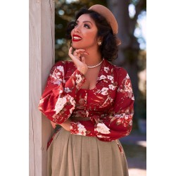 Miss Candyfloss Vintage Gloria-Amber Blouse