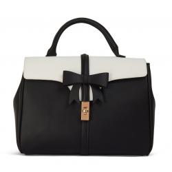 Lulu Hun Roberta Bow Bag Black & White