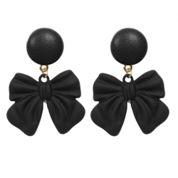 Collectif Black Bow Earrings