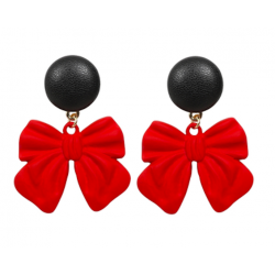 Collectif Red Bow Earrings