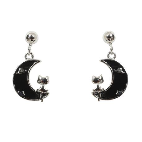 Collectif Half Moon Cat Earrings