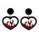 Collectif Love Flames Earrings