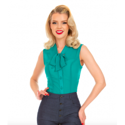 Hearts & Roses Courtney Chiffon Blouse Teal