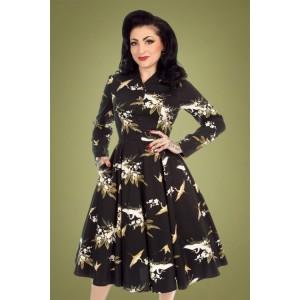 Hearts & Roses Birdie Floral Swing Dress