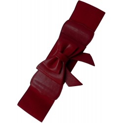 Banned Play It Right Belt Burgundy