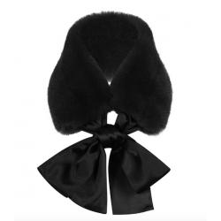 Banned Retro Natasha Faux Fur Scarf Black